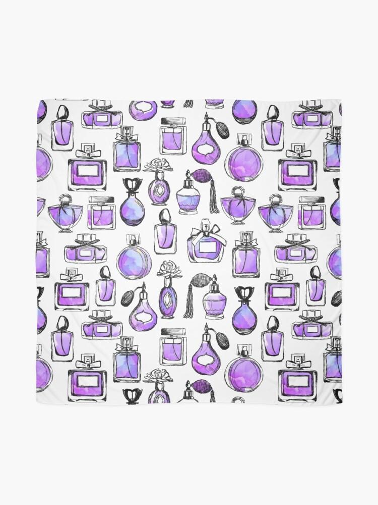 Alternate view of Perfume love valentines watercolor // lilac purple andrea lauren Scarf
