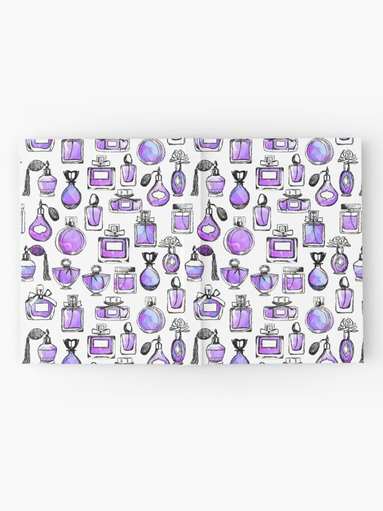 Alternate view of Perfume love valentines watercolor // lilac purple andrea lauren Hardcover Journal