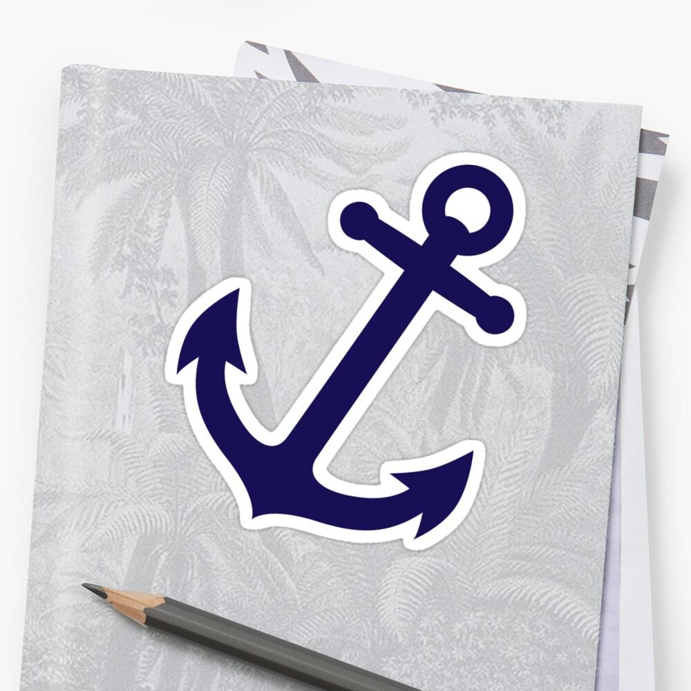 Marineblauer Anker Sticker