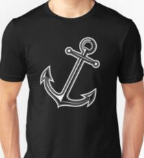 White vintage anchor Unisex T-Shirt