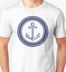 Anchor inside of ropes Unisex T-Shirt