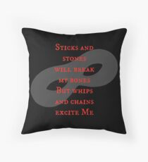 After Mr Grey...  Throw Pillow