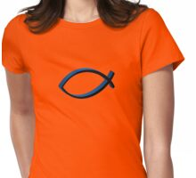 Ichthys Symbol 3 Womens Fitted T-Shirt