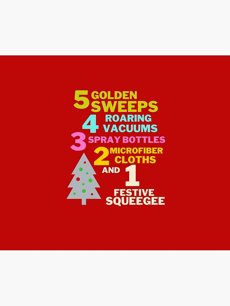 1 Festive Squeegee Funny Christmas Cleaning Humor by SavvyCleaner