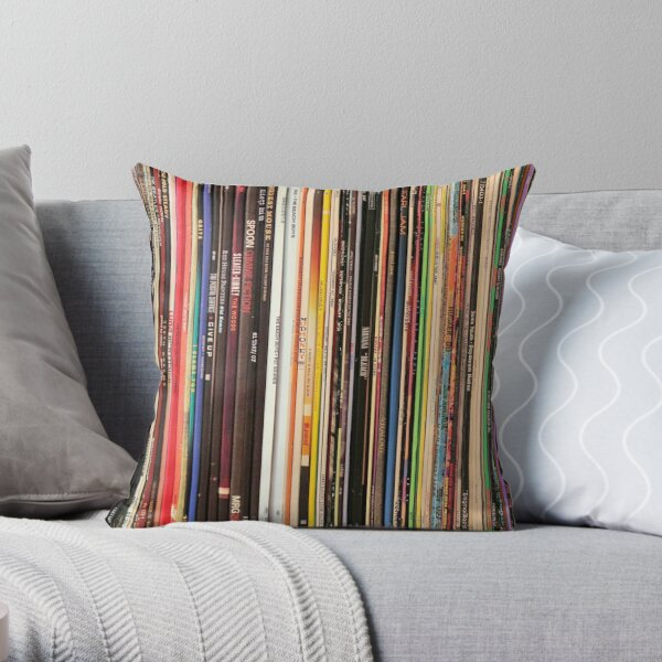 Ultimate Vinyl Record Collection Throw Pillow