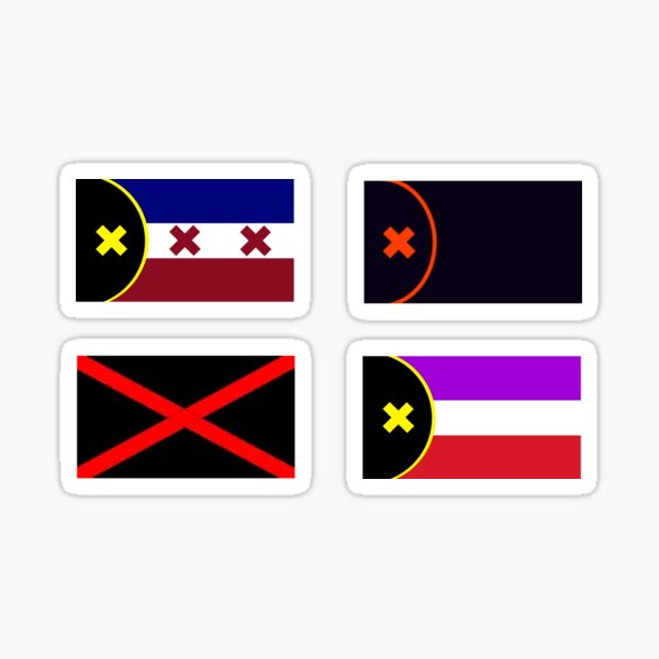 Sticker Pack of L'Manberg and Manberg Flags (Dream SMP) Sticker