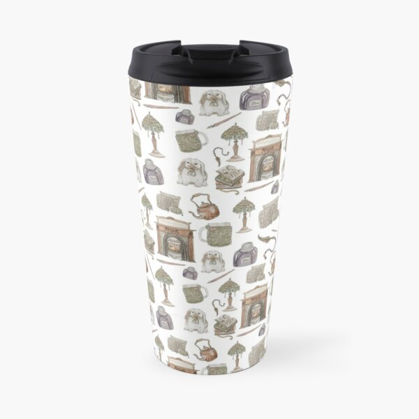 Hearth Witch Pattern with White Background Travel Mug
