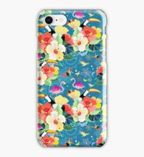 tropical pattern with birds iPhone Case/Skin