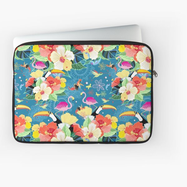 tropical pattern with birds Laptop Sleeve