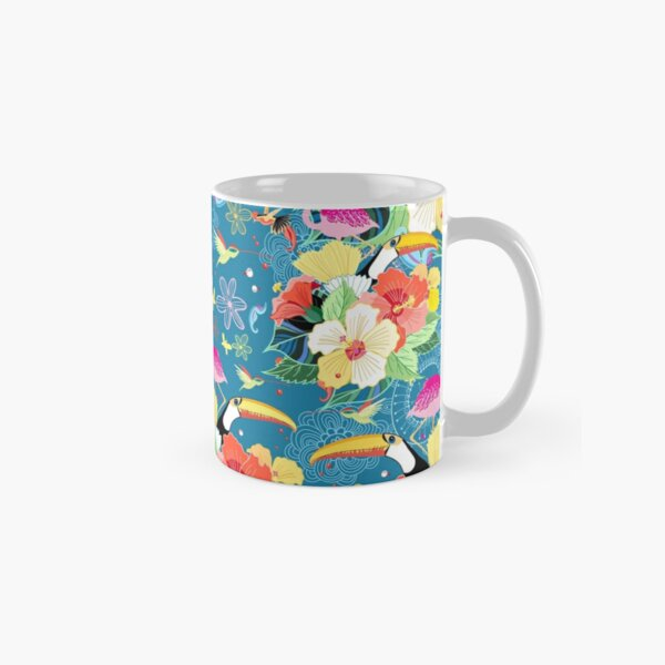 tropical pattern with birds Classic Mug