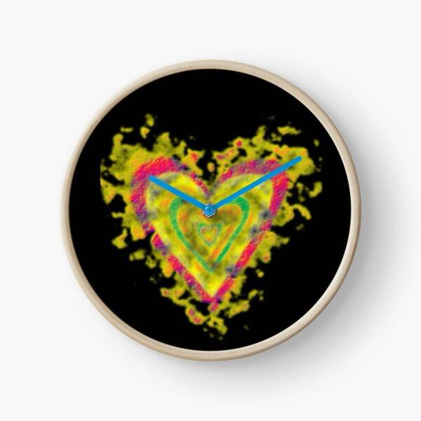 Heart Gold Sugary Clock