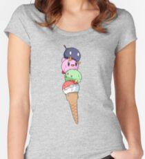 Nintendo icecream!! Women's Fitted Scoop T-Shirt