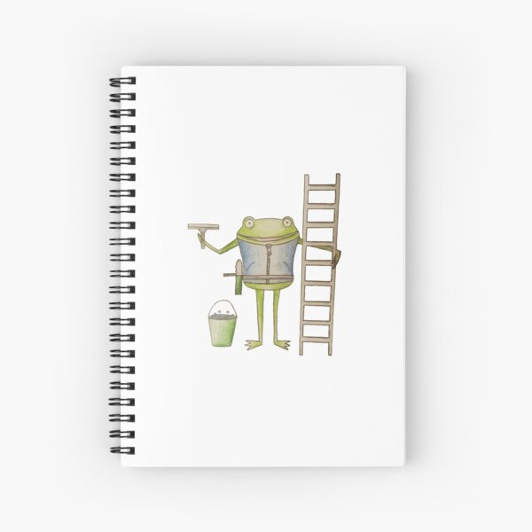 Window Cleaning Frog Spiral Notebook