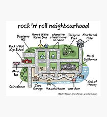 rock 'n' roll neighbourhood Photographic Print
