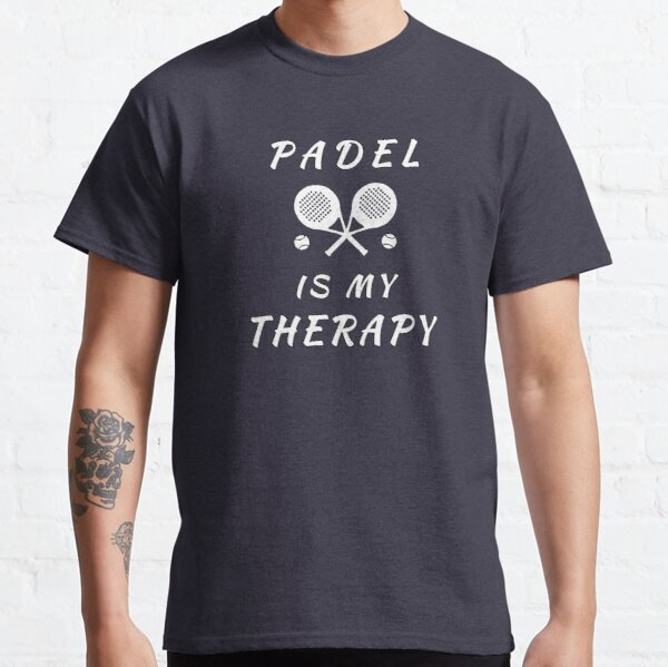 El pádel es mi terapia Camiseta clásica