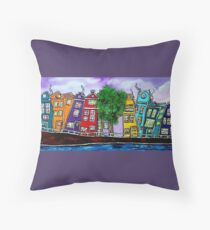 Amsterdam famous canals Throw Pillow