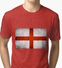 England Flag - St Georges Tri-blend T-Shirt