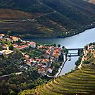 Pinhao town & Douro river - Portugal by Hercules Milas