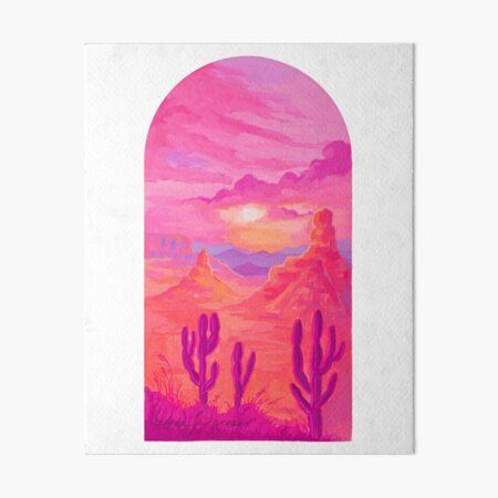Pink Desert Archway Art Board Print