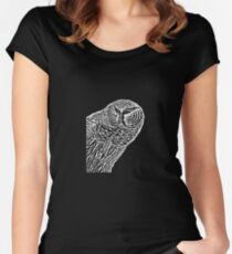 Owl Alert Women's Fitted Scoop T-Shirt