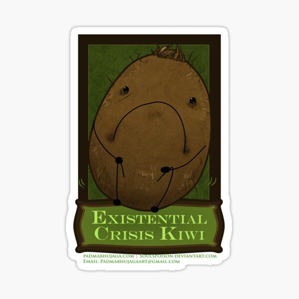 Existential Crisis Kiwi Sticker Sticker