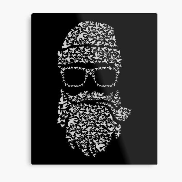 Cool Bird Santa Metal Print