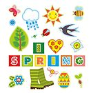 Spring Seamless Background Textile Element by Netopir