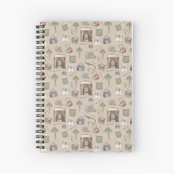 Hearth Witch Pattern with Vanilla Background Spiral Notebook