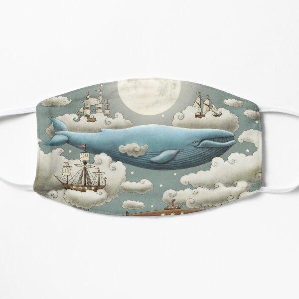 Ocean Meets Sky  Flat Mask