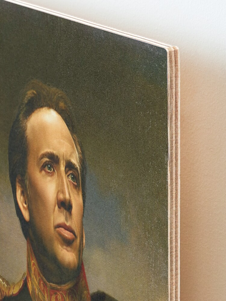 Alternate view of Nicolas Cage - replaceface Mounted Print