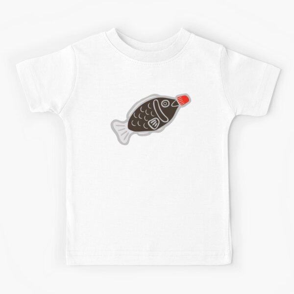 Sushi Soy Fish Pattern in Blue Kids T-Shirt