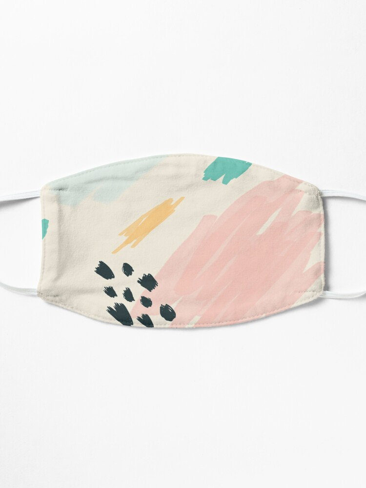 Alternate view of Artistic Painted Blue Pink Retro Graphic Gift Mask