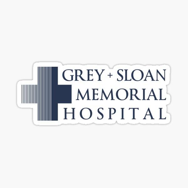 Grey + Sloan Memorial Hospital Logo | Blue Print Sticker