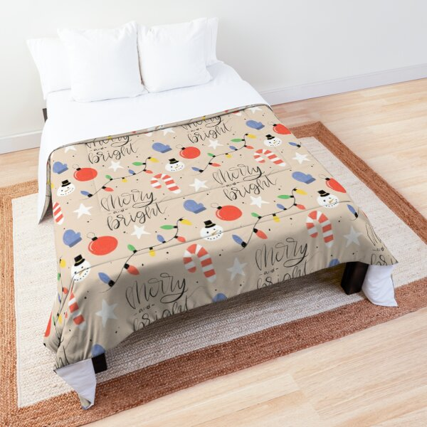 Merry and bright pattern Comforter