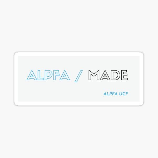 ALPFA Made (Black Outline) Sticker