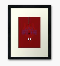 Spiderman Typography Framed Print