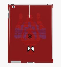 Spiderman Typography iPad Case/Skin
