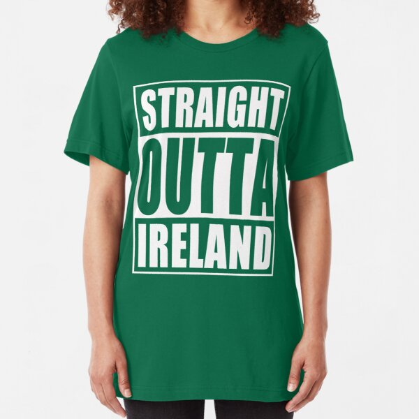 I Love Hearts Ireland Ladies Fitted T-Shirt