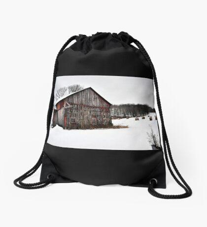 Barn & Round Bales Drawstring Bag