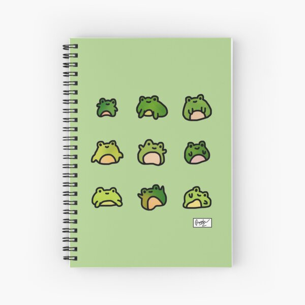 Frogs Doodle Spiral Notebook