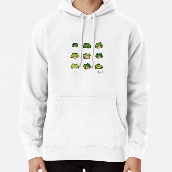 Frogs Doodle Pullover Hoodie