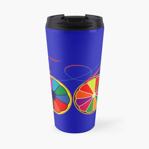 orange in color for happiness. Travel Mug