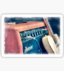 Vintage Guitar Amp Watercolor Sticker