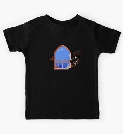 Our Hero Approaches (Black Background) Kids Clothes
