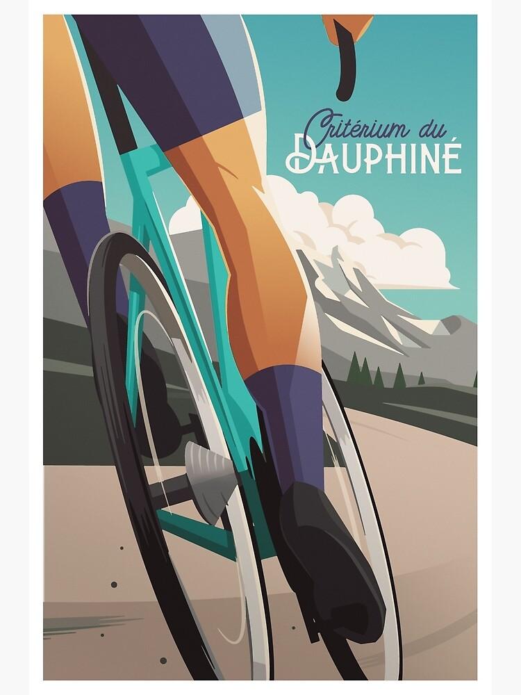 Critérium du Dauphiné - Cycling Poster by superchezbro