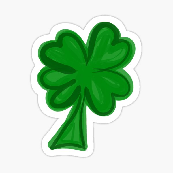 Lucky Clover Glossy Sticker