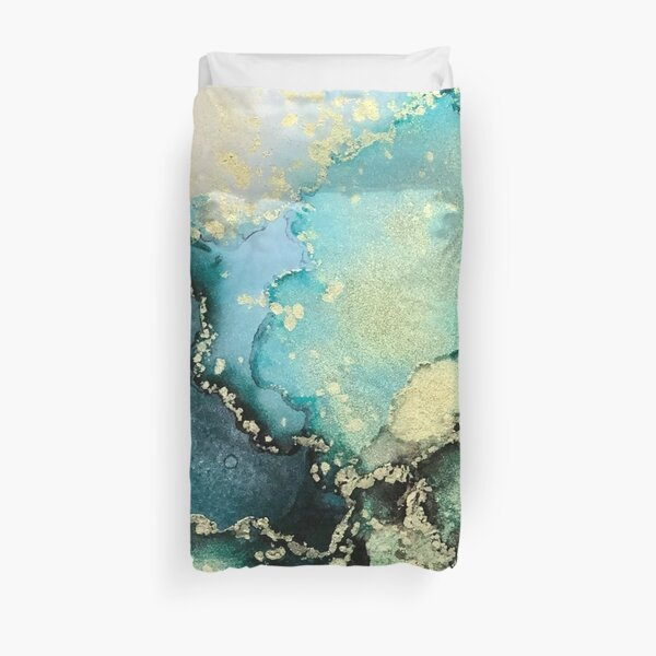 Emerald Escape Duvet Cover