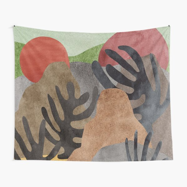 Abstract landscape Tapestry