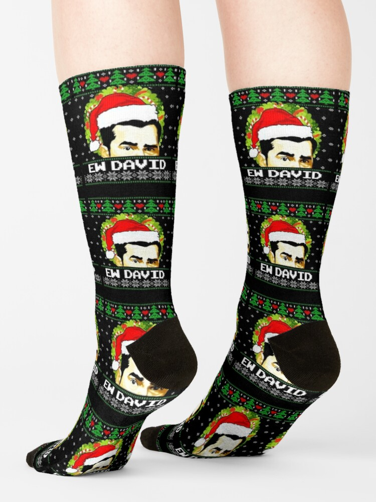 Alternate view of Ew David Christmas Schitts Creek Fan Ugly Christmas Gifts For Fans, Gifts For Men and Women, Gift Thanksgiving, Christmas Day Socks
