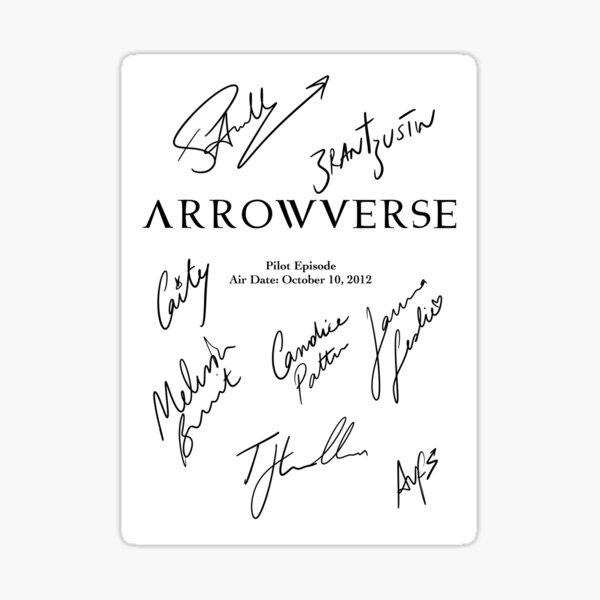 Arrowverse Script Design Sticker
